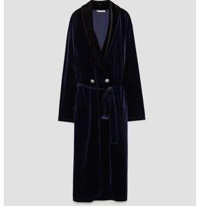 Zara velvet dress duster